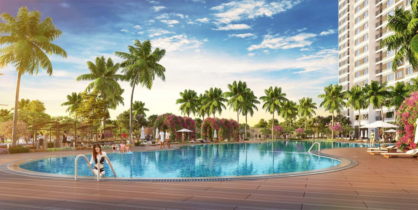 Bể bơi ngoài trời chung cư Imperia Smart City
